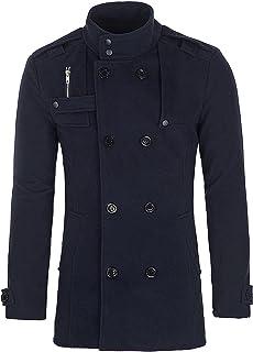 PAUL JONES Men's Classic Double Breasted Wool Blends Winter Coat