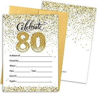Best birthday invitation 80th Reviews