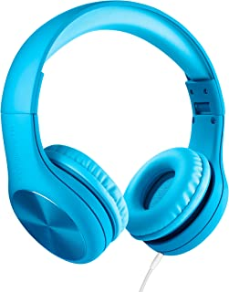 LilGadgets New Connect+ PRO Kids Premium Volume Limited Wired Headphones with SharePort for Children (Blue)