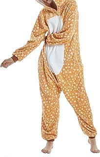 Pijamas Unisexo Adulto Cosplay Traje Disfraz Adulto Animal Pyjamas Ropa de Dormir Halloween y Navidad Franela