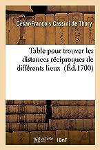 Explication de la Table Pour Trouver Les Distances Réciproques de Différents Lieux (Sciences) (French Edition)