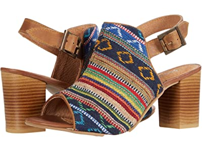 Roper Mika Aztec Tapestry (Tan Leather/Stripe Fabric Vamp) Women