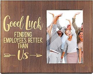 Ku-dayi Good Luck Finding Employees Better - Inspirational Boss Leaving Gift, Goodbye Farewell Gift, Appreciation, Birthda...