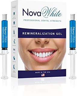 NovaWhite Remineralization Gel, 40+ Treatments, Reduces Teeth Sensitivity, Strengthens Tooth Enamel, Teeth Sensitivity Treatment, Remineralizing Gel for Sensitive Teeth & Teeth Repair, Desensitizing
