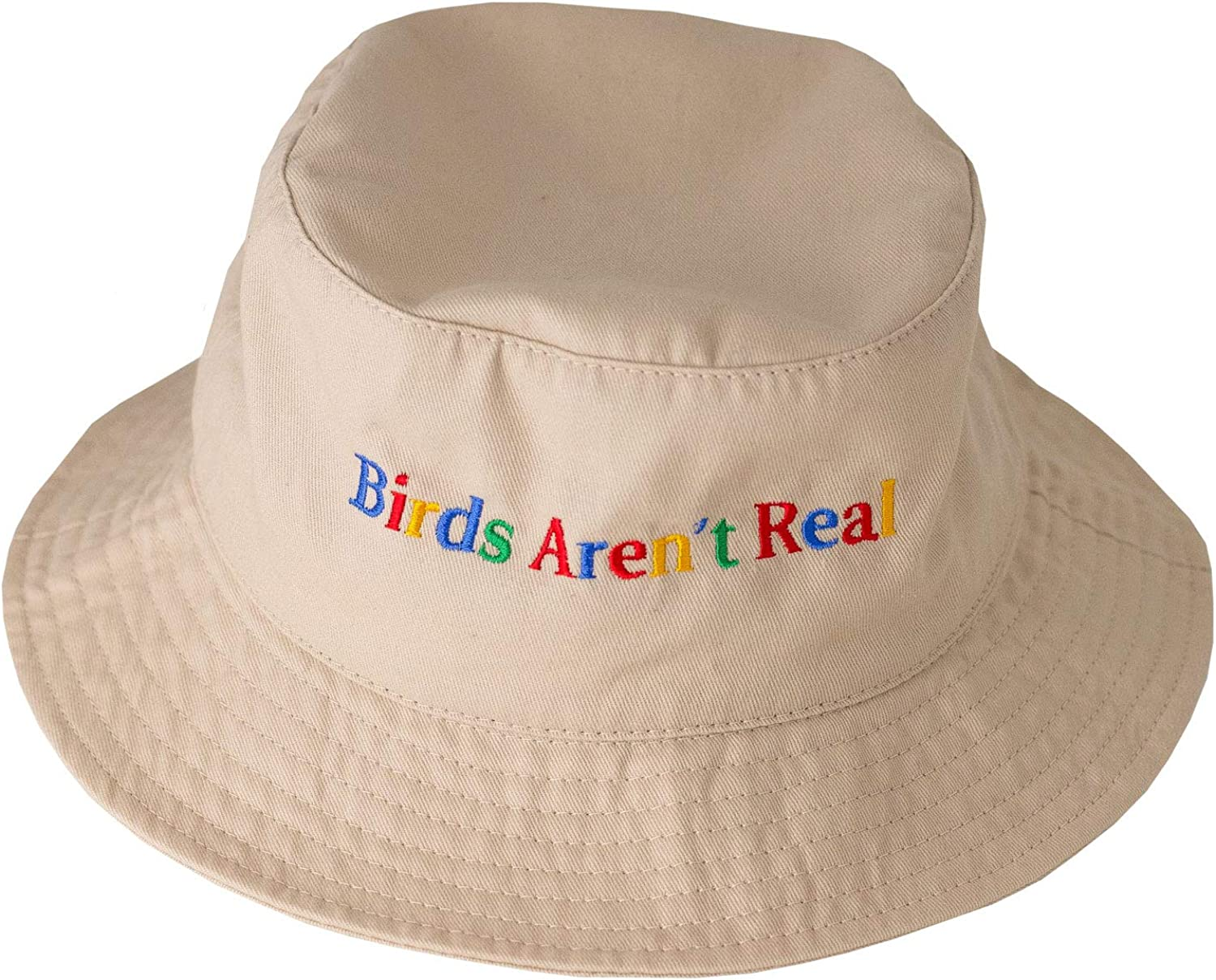 Birds Aren't Real Bucket Hat in Tan : Clothing, Shoes & Jewelry