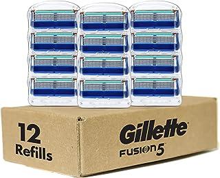 Gillette Fusion Manual Men's Razor Blade Refills, 12 Count, Mens Razors/Blades