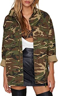 Women's Lightweight Long Sleeve Military Jacket Coat