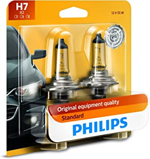 Philips H7 Standard Halogen Replacement Headlight Bulb, 2 Pack