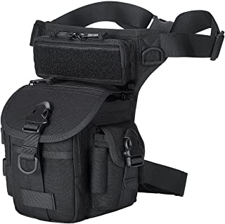 ROCOTACTICAL Military Tactical Drop Leg Bag Motorcycle Thermite Versipack Tool Fanny Thigh Utility Pouch Bag (Black)