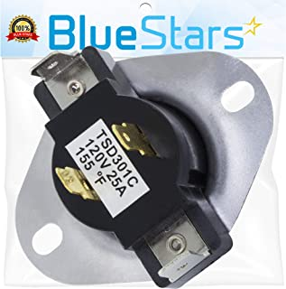 3387134 Dryer Cycling Thermostat Replacement Part by Blue Stars - Exact fit for Whirlpool Kenmore Maytag dryers - Replaces 3387135 3387139 WP3387134VP 306910 3387134