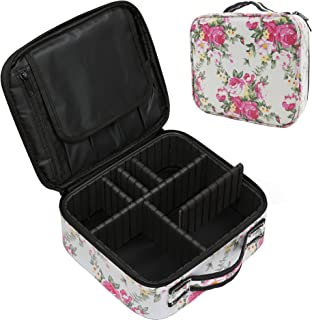 Sponsored Ad - MONICON Travel Makeup Train Case PU Leather Material, Makeup Case Organizer Cosmetic Cases Portable Brush C...