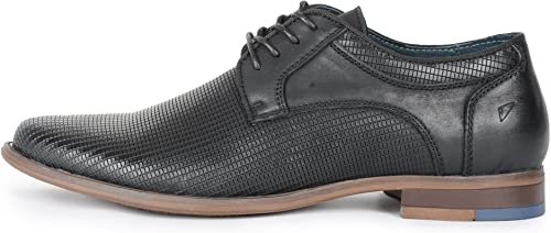 Front Duke Leather Leather chaussures Brogues