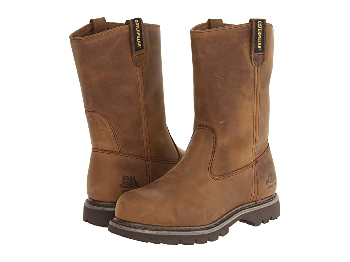Caterpillar  Revolver Steel Toe (Dark Beige Lite Horn) Womens Work Pull-on Boots