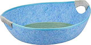 Gluckluz Cat Bed House Pet Dog Kennel Nest Sleeping Basket Scratcher Scratching Scratch Cave with Removable Washable Cool ...