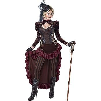 Forum Novelties-X75015 Novelties X75015 Costume de Dame Steampunk UK 10-12 Multicolore
