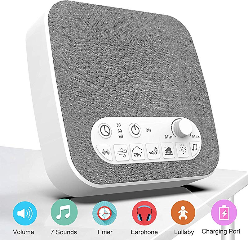 BESTHING White Noise Machine Sound Machine For Sleeping Non Looping Soothing Sounds Portable Sleep Sound Therapy For Home Office Travel For Kids Adults