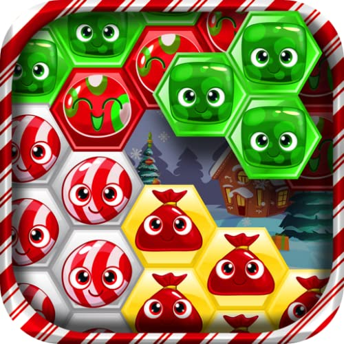 Christmas Hexa Blast - Candy Hexagon Puzzle Blocks FREE