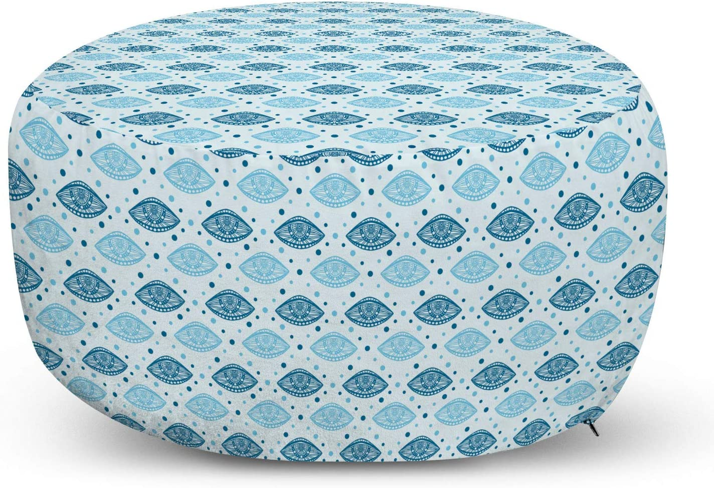 Lunarable Folklore Popular product Pouf Cover with Styl Zipper Selling Oriental Eastern
