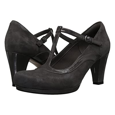 Clarks Chorus Pitch (Dark Grey Leather Combo) High Heels