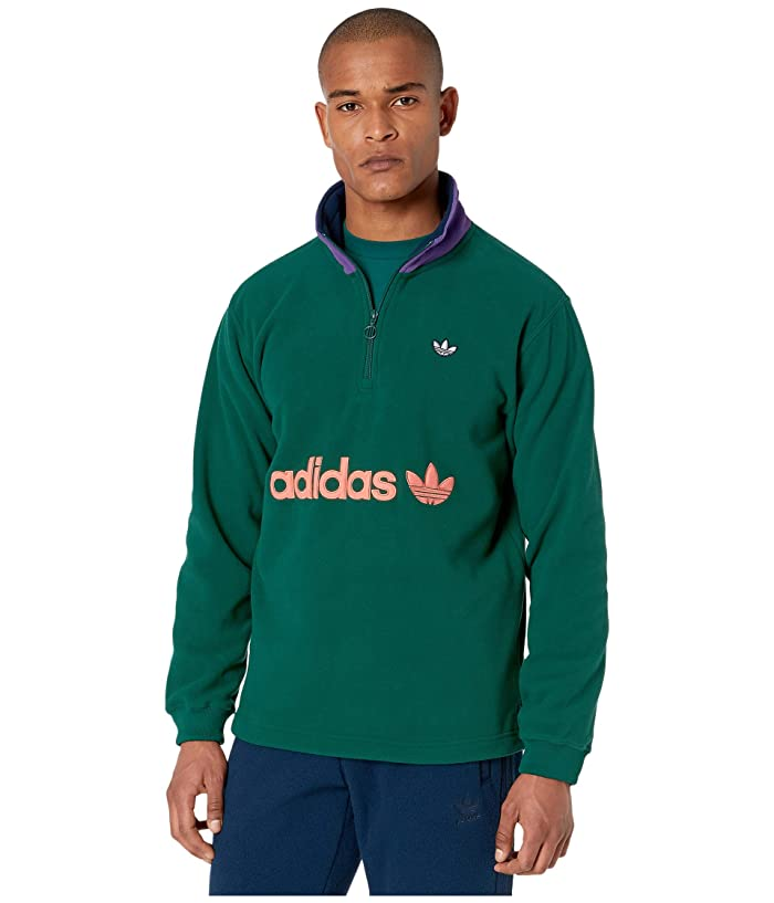 adidas Originals  1/2 Zip Fleece (Collegiate Green) Mens Sweatshirt