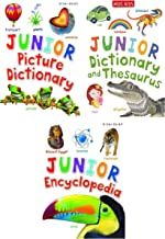 Miles Kelly Junior Series 3 Books Collection Set - Encyclopedia, Picture Dictionary, Dictionary and Thesaurus - Early Reader