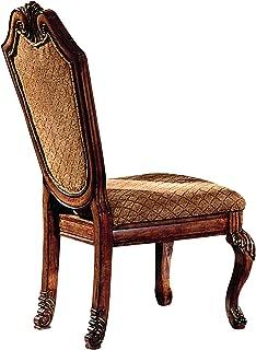 ACME Set of 2 Chateau de Ville Side Chair, Cherry Finish