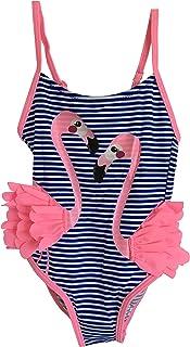 f4af69855e44 Costume da Bagno Bambina Ragazza Intero Fenicottero - Moda Mare Colori  Vivaci Flamingo Beach