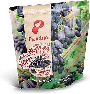 Biologische zwarte Bukhara-rozijnen 1 kg FAIRTRADE schaduwgedroogd, Bukhara, rauw voedsel, ongeolied en ongezoet, uit Oezb...