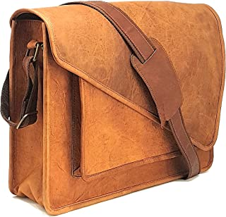 Purple Relic: NEW ARRIVAL Real Leather 15.6-Inch Laptop Man Bag for Office; Crossbody Messenger Bag with Removable Laptop Sleeve for Everyday Use