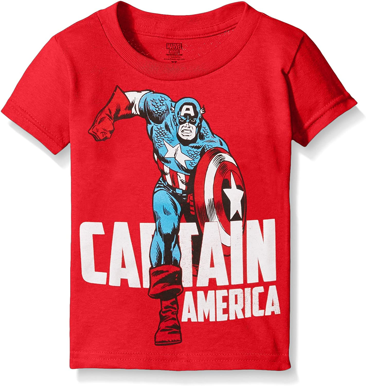 Boys Captain America T Shirt Size 10-12 Large Superhero Glows in the Dark New