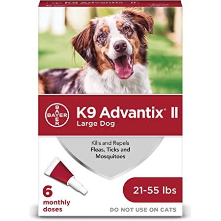 K9 advantix II Flea and Tick Prevention for Large Dogs, 21-55 Pounds
