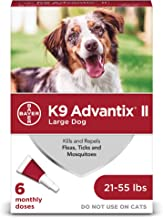 K9 Advantix II Flea, Tick and Mosquito Prevention for Large Dogs, 21 - 55 lbs