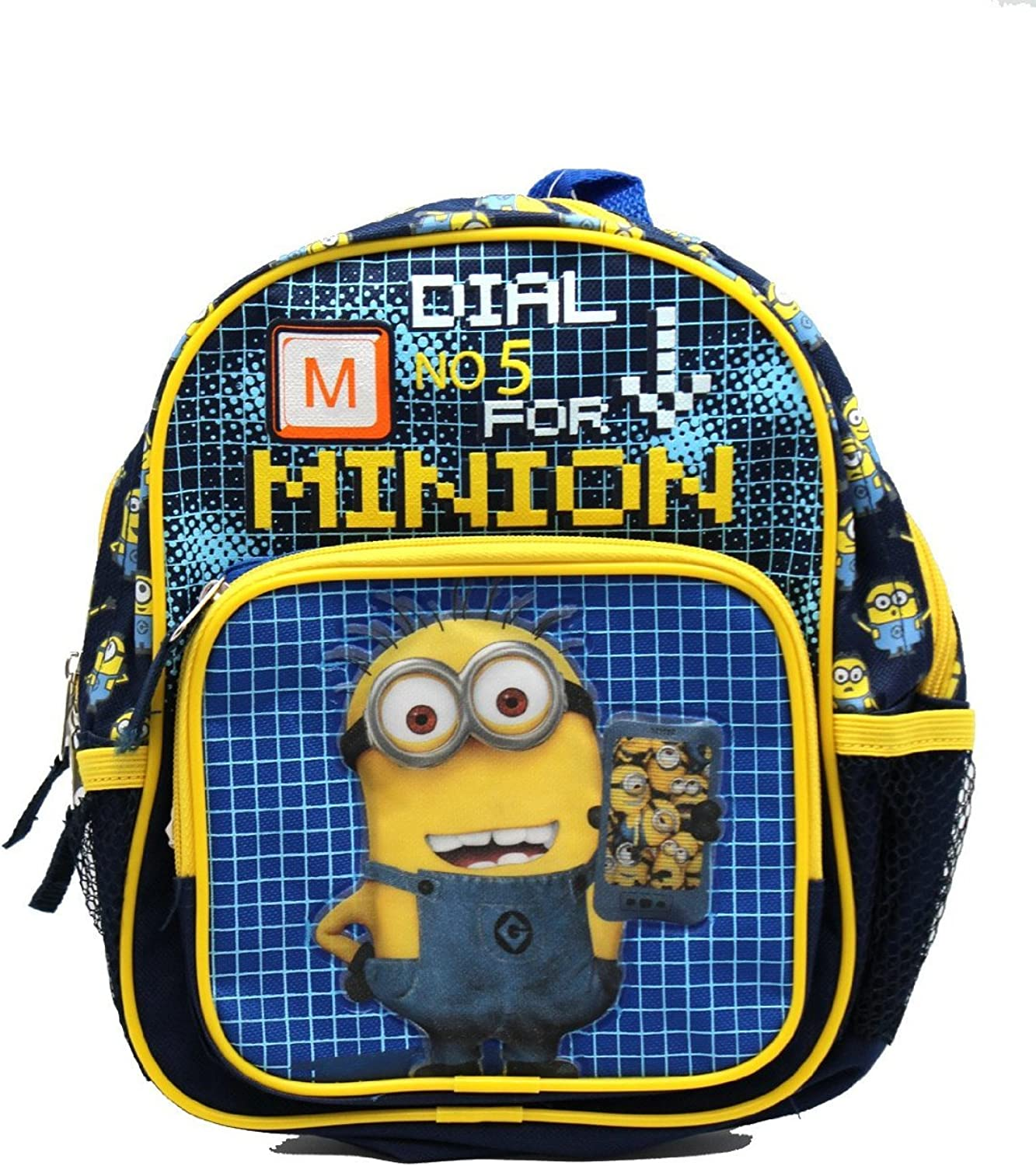 Mini Size Black and bluee Dial 5 for Minion Despicable Me Kids Backpack