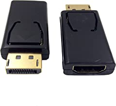 DP to HDMI Adapter Haokiang 4K 3D Gold Plated DisplayPort to HDMI Male to Female Converter Adapter 1.4V Black