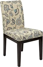 AVE SIX Dakota Upholstered Parsons Chair with Espresso Finish Wood Legs, Avignon Sky