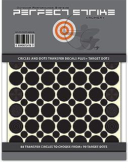 完美攻击射箭圆点和点转印贴花 适用于范围镜头 + 即剥即贴目标圆点。 非常适合练习或比赛。 优质粘性背衬乙烯基贴纸。 (黑色)