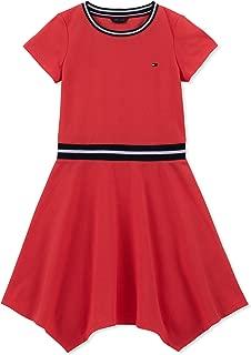 Big Girls' Short Sleeve Solid Dress