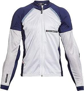 Bohn All-Season Airtex Armored Riding Shirt - Blue/White - Medium