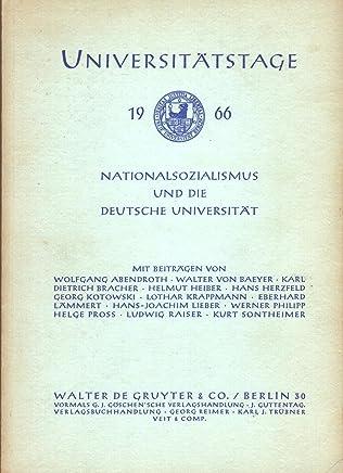 Nationalsozialismus und die deutsche Universität