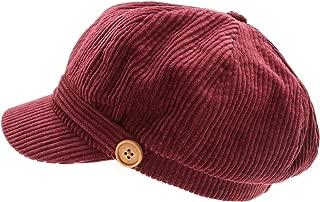 MIRMARU Women's Classic Visor Baker boy Cap Newsboy Cabbie Winter Cozy Hat with Comfort Elastic Back