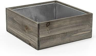 CYS EXCEL Planter Box, Wood Planter, Wood Rectangle Window Box, Wood Planters with Removable Zinc Liner, Succulent Planter - 8 (1, H-4