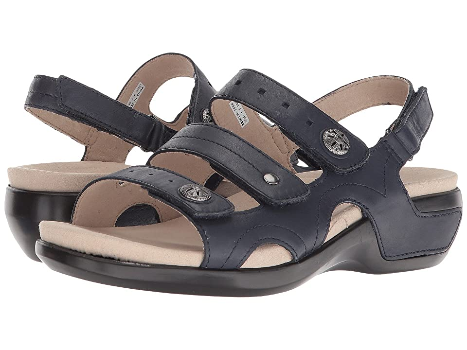Aravon PC Three Strap (Navy Leather) Women