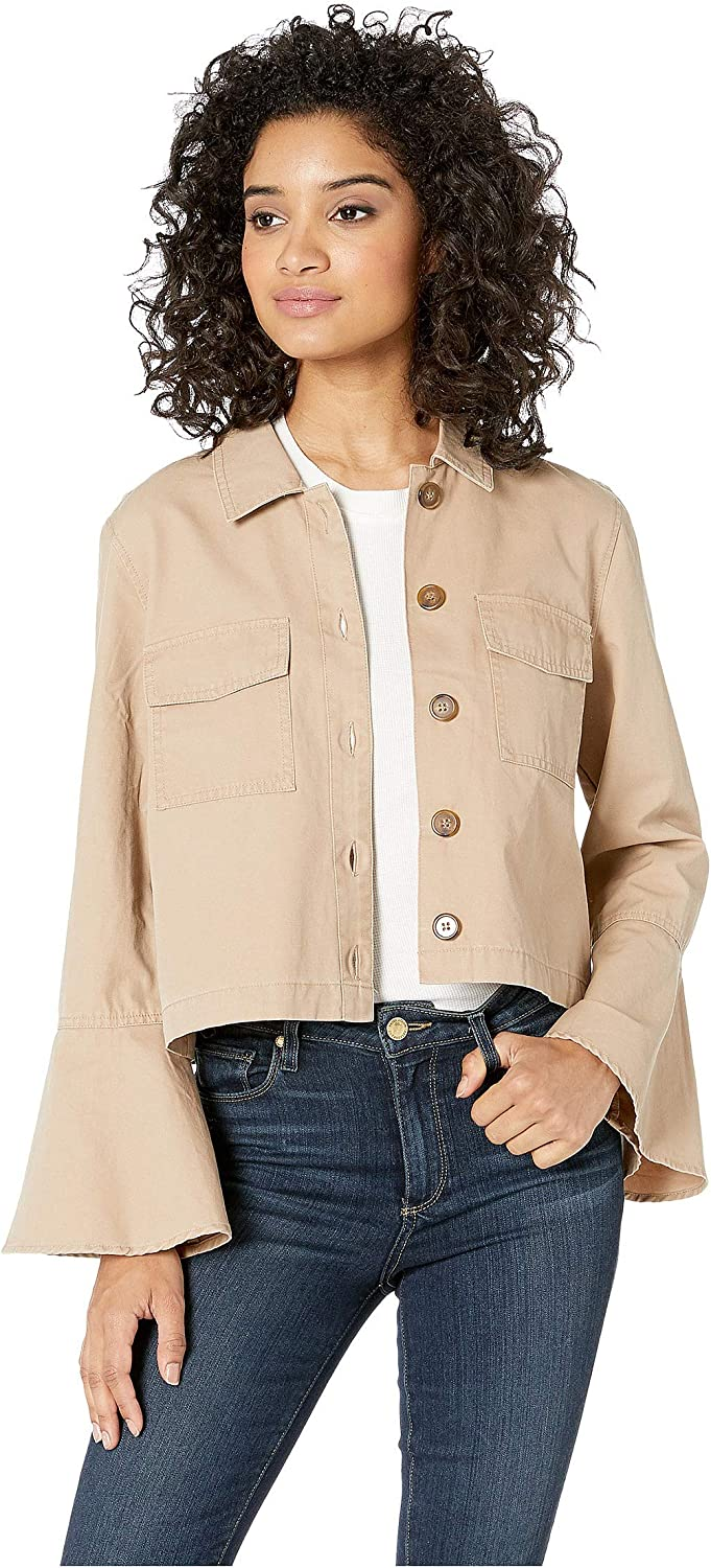 JACK Women's Army of Me Cotton Canvas Bell Sleeve Jacket