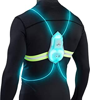 Tracer360 – Revolutionary Illuminated & Reflective Vest for Running or Cycling with Multicolored LED Fiber Optics (Women & Men, Adjustable, Lightweight, Weatherproof Gear for Jogging & Biking)