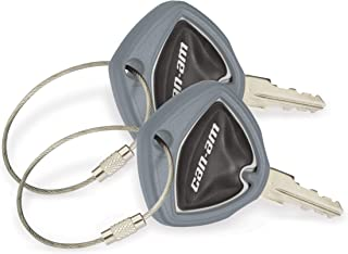 Big Bike Parts 41-182E Grey Can-Am Spyder Key Covers, 2 Pack