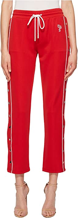 Jogging Trousers with Double Ecru Hoops