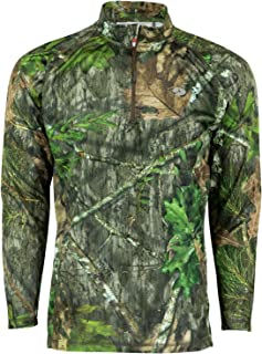 Mossy Oak Men's Camo Lightweight 1/4 Zip Hunting Shirt