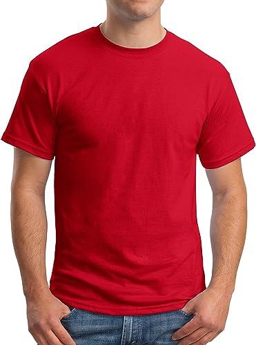 Hanes Pour des hommes 5.2 oz. 50 50 ComfortBlend Ecointelligent T-Shirt(5170)-Deep rouge-2XL
