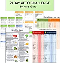 21 Day Keto Challenge Pack with Meal Plan| Keto Cheat Sheets for Beginners Big Size 8