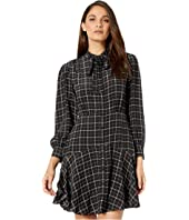 Rebecca Taylor - Long Sleeve Plaid Silk Dress